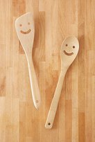 Urban Outfitters Bamboo Smile Serving Utensil Set