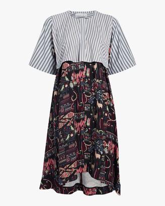 Carven Mixed Print Dress