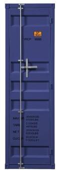 Saphira Industrial Metal Wardrobe Armoire Breakwater Bay Color: Blue