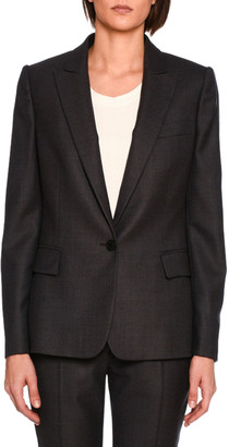 Stella McCartney Ingrid Single-Breasted Jacket, Charcoal