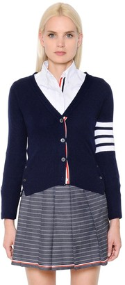 Thom Browne INTARSIA STRIPES CASHMERE KNIT CARDIGAN