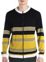 Fendi Striped Crewneck Wool Sweater