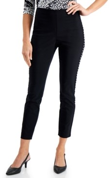 JM Collection Studded Tummy-Control Skinny Pants, Created for Macy's