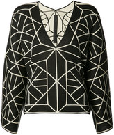 Gareth Pugh knitted long sleeve T-shirt - women - Silk/Cotton - One Size