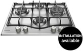 Hotpoint Ultima PCN641IXH 60cm Gas Hob With Optional Installation - Stainless Steel