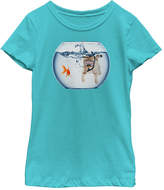 Fifth Sun Kitty Fish Bowl Tee - Toddler & Girls
