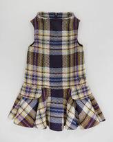 Lili Gaufrette Plaid Sleeveless Dress, Purple, Sizes 2-6