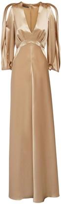 Alberta Ferretti Satin Long Dress