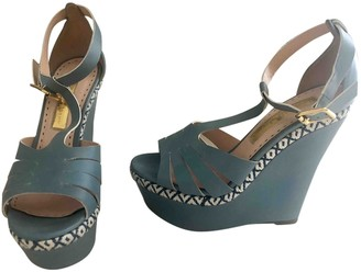 Rupert Sanderson Blue Leather Sandals