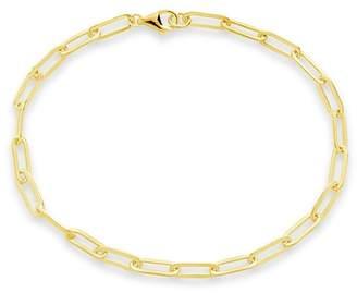 Sterling Forever 14K Gold Plated Sterling Silver Delicate Link Bracelet