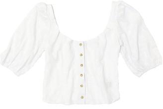 Merritt Charles Romeo Blouse | White Embroidery