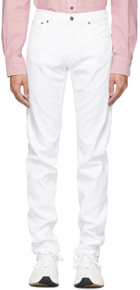 eidos White Frayed Cuffs Jeans