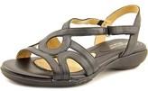 Naturalizer Catarra Women Open-toe Leather Black Slingback Sandal.