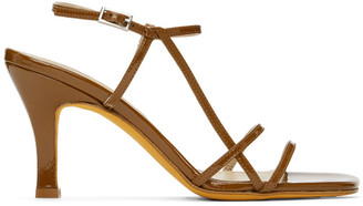 Maryam Nassir Zadeh Brown Patent Irene Sandals
