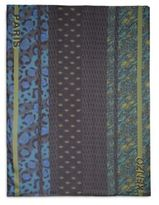 Kenzo Patterned Striped Large Scarf
