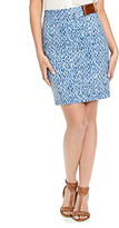 MICHAEL Michael Kors Wave Print Pencil Skirt