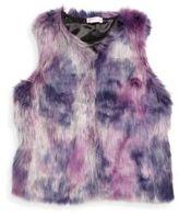 Design History Girl's Faux Fur Vest