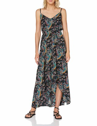 Yumi Women's Paisley Printed High Low Maxi Dress Casual