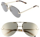 Karen Walker Women's Love Hangover 60Mm Aviator Sunglasses - Crazy Tortoise/ Gold