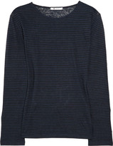T by Alexander Wang Striped linen-jersey T-shirt
