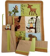 Lambs & Ivy 5 Piece Bedding Set, Enchanted Forest by
