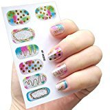 Alonea DIY Nail Sticker Water Transfer Stickers Finger Nail Art Decals (H)