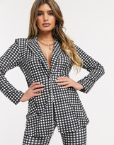 Thumbnail for your product : ASOS DESIGN jersey suit blazer in gingham