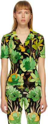 Fendi Green Garden Print Polo