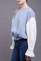 J.o.a. Contrast Balloon Sleeve Sweatshirt
