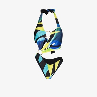 Louisa Ballou Sex Wax halterneck cutout swimsuit