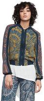 BCBGMAXAZRIA Darin Floral-Print Bomber Jacket