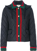 Gucci quilted contrast trim jacket - women - Cotton/Polyamide/Viscose - 38