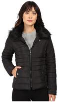 U.S. Polo Assn. Puffer Fashion Jacket with Fur Collar