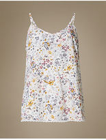 M&S Collection Floral Print Strappy Camisole Pyjama Top