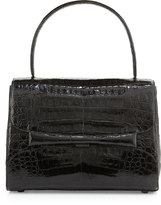 Nancy Gonzalez Kelly Medium Crocodile Handbag, Black