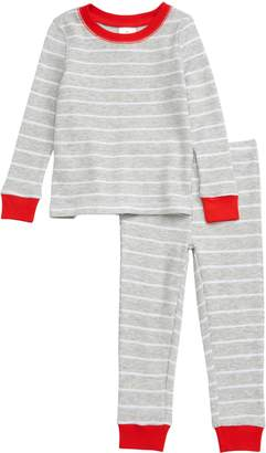 Rachel Parcell Thermal Fitted Two-Piece Pajamas