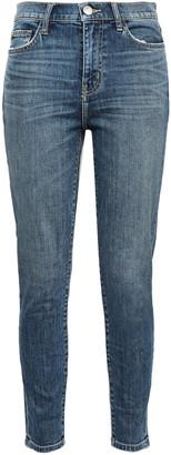 Current/Elliott The High Waist Stiletto Faded High-rise Skinny Jeans