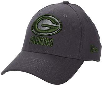 New Era NFL Stretch Fit Graphite 3930 -- Green Bay Packers (Graphite) Baseball Caps