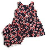 Armani Junior Baby's Two-Piece Starfish Printed Dress & Bloomers Set