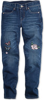 Levi's Limited Collection Patch-Embroidered Super Skinny Jeans, Big Girls (7-16), a Macy's Exclusive Style