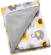 NoJo Little Bedding by Elephant Time Velboa Blanket, Yellow