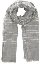 "Oasis STRIPE WEAVE SCARF [span class=""variation_color_heading""]- Mid Grey[/span]"
