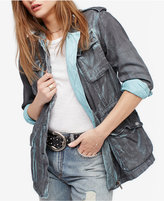 Free People Double Cloth Cotton Utility Jacket