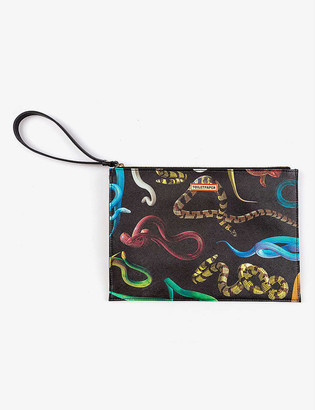 Seletti Toiletpaper Loves Snakes pouch bag