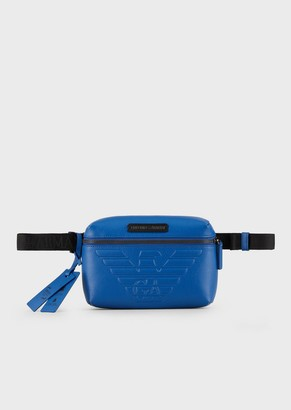 Emporio Armani Travel Essential Belt Bag In Bonded Leather