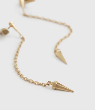 AllSaints Flora Gold-Tone Drop Earrings