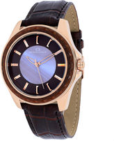 Oceanaut Womens Angel Purple Faux Pearl & Brown Leather Strap Watch