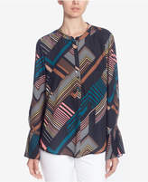 Catherine Malandrino Printed Flared-Sleeve Shirt