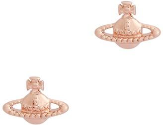 Vivienne Westwood Farah Rose Gold-tone Stud Earrings