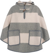 MiH Jeans Honor hooded striped wool-blend twill cape